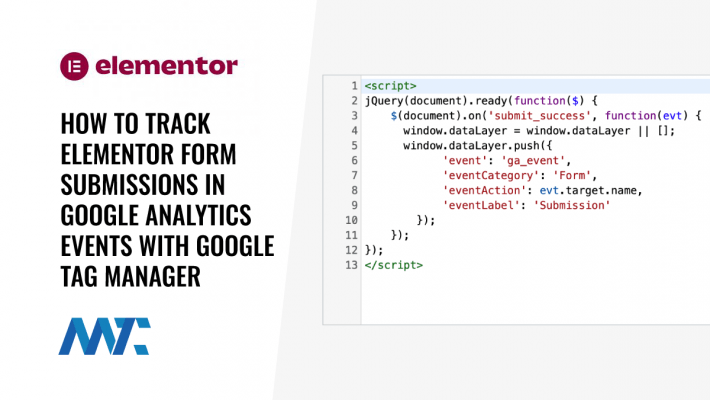 How To Track Elementor Form Submissions in Google Analytics Events